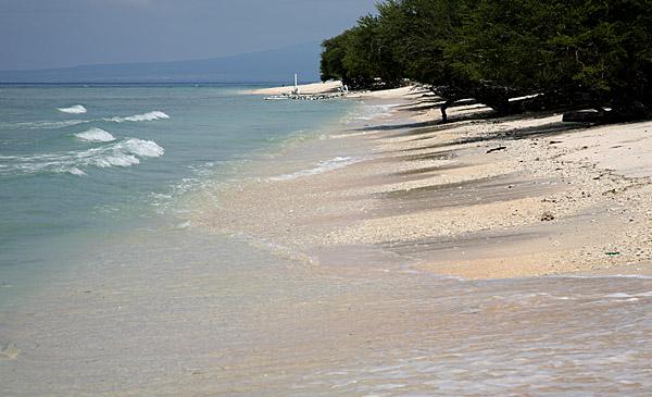 Gili trawanang - In het midden eiland grootte ...